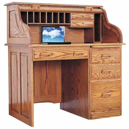 Regency Single Pedestal Rolltop Desk