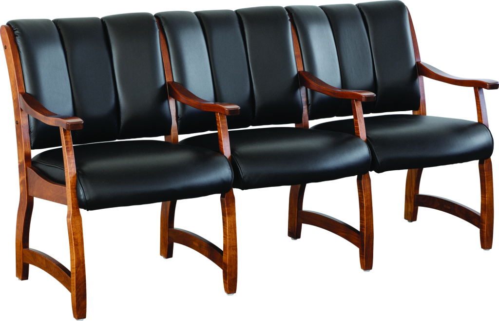 Midland 3 seat waiting room chair herron 39 s amish furniture for Seating room furniture