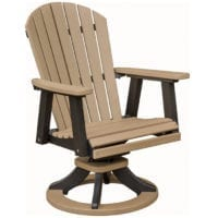 Outdoor swivel rocker dining chair Herron's Amish Furniture