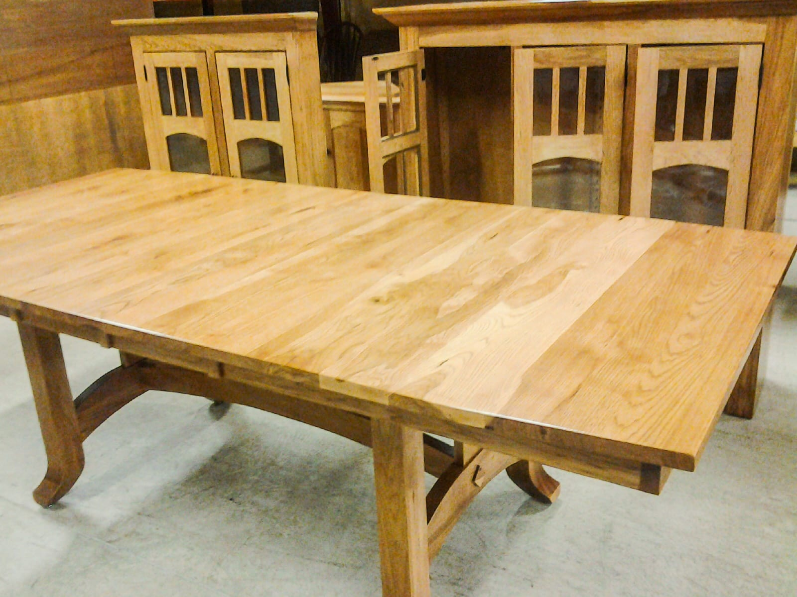 Custom Made Furniture - Dining Room Table and Hutch