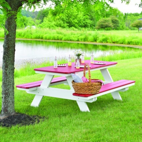 Rectangle Picnic Table-lifestyle