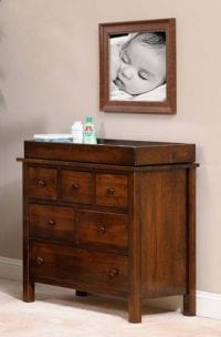 Changing Table Dresser Herron's Amish Furniture